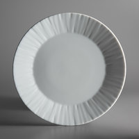 Schonwald 9360076 Character 10 1/4 inch White Round Porcelain Plate - 6/Case