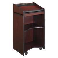 Safco 8918MH 25 1/4 inch x 19 3/4 inch x 46 inch Mahogany Executive Mobile Lectern