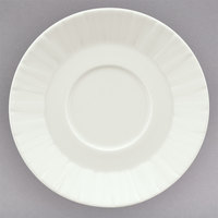 Schonwald 9366968 Character 6 3/8 inch White Round Porcelain Cream / Soup Saucer - 12/Case