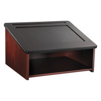 Safco 8916MH 24 inch x 20 inch x 13 1/2 inch Mahogany / Black Tabletop Lectern