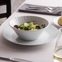 Schonwald 9363168 Character 28.75 oz. White Round Porcelain Salad Bowl - 6/Case