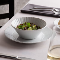 Schonwald 9363165 Character 16.25 oz. White Round Porcelain Salad Bowl - 6/Case