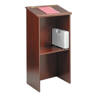 Safco 8915MH 23 inch x 15 3/4 inch x 46 inch Mahogany Stand-Up Lectern