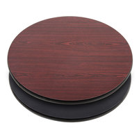 "Lancaster Table &amp&#x3b; Seating 24"" Laminated Round Table Top Reversible Cherry / Black"