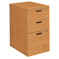 HON 105102CC 10500 Series Harvest Laminate Three-Drawer Mobile Pedestal File Cabinet - 15 3/4 inch x 22 3/4 inch x 28 inch