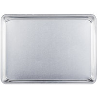 Baker's Mark Quarter Size 19 Gauge Wire in Rim Aluminum Bun / Sheet Pan - 13 inch x 9 1/2 inch