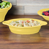 Homer Laughlin 587320 Fiesta Sunflower 13 oz. Oval China Baker / Casserole Dish - 4/Case