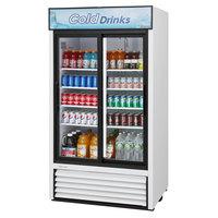 Turbo Air TGM-35R-N White Refrigerated Sliding Glass Door Merchandiser