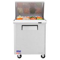 Turbo Air MST-28-12-N M3 Series 28 inch 1 Door Mega Top Stainless Steel Refrigerated Sandwich Prep Table