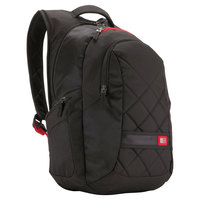 Case Logic 3201268 16 3/4 inch x 14 inch x 9 1/2 inch Black Laptop Backpack
