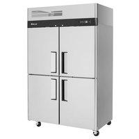 Turbo Air M3R47-4-N M3 Series 52 inch Solid Half Door Stainless Steel Reach-In Refrigerator