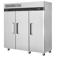 Turbo Air M3R72-3-N M3 Series 78 inch Solid Door Stainless Steel Reach-In Refrigerator