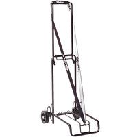 Stebco 390002BLK Black Steel Folding Luggage Cart / Hand Truck with 125 lb. Capacity - 10 inch x 13 inch Platform