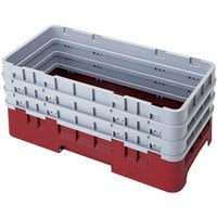 Cambro HBR712416 Cranberry Camrack Half Size Open Base Rack with 3 Extenders