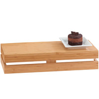 Cal-Mil 1943-3-60 Bamboo Rectangle Crate Riser - 20 inch x 7 inch x 3 inch