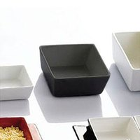 CAC F-BW4-B Fortune 3 1/2 inch Square China Tasting Bowl - Black - 48 / Case
