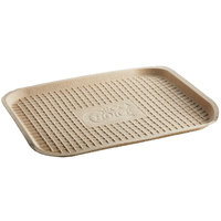 EcoChoice 14 inch x 18 inch Molded Fiber / Pulp Rectangle Tray - 100/Case