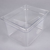 Cambro 28CW135 Camwear 1/2 Size Clear Polycarbonate Food Pan - 8 inch Deep