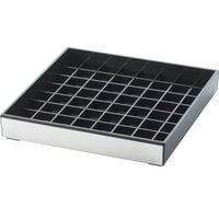 Cal-Mil 391-010 6 inch Silver and Black Square Drip Tray