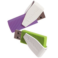 Verbatim 98425 Store 'n' Go Swivel Assorted Colors 16 GB USB Flash Drive   - 2/Pack