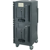 Cambro CMBPHHD615 Charcoal Gray Electric Combo Cart Plus with Heavy Duty Casters - 110V