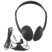 AmpliVox SL1006 Black Personal Multimedia Stereo Headphones with Volume Control