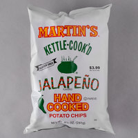 Martin's 8.5 oz. Bag Jalapeno Kettle-Cook'd Potato Chips - 9/Case