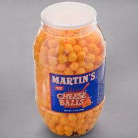 Martin's 17 oz. Cheese Balls Barrel - 6/Case