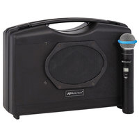 AmpliVox SW223A 50W Black Bluetooth Audio Portable Buddy Stereo Amplifier with Wireless Handheld Microphone