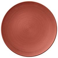 Villeroy & Boch 16-4070-2595 Copper Glow 12 1/2 inch Copper Premium Porcelain Flat Coupe Plate - 6/Case