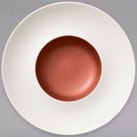 Villeroy & Boch 16-4070-2705 Copper Glow 11 1/2 inch White Rim with 5 1/2 inch Copper Well Premium Porcelain Deep Plate - 6/Case
