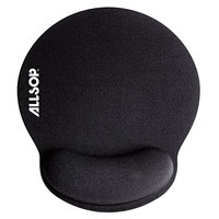Allsop 30203 MousePad Pro 9 inch x 10 inch x 1 inch Black Memory Foam Mouse Pad with Wrist Rest