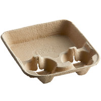 EcoChoice 8-22 oz. 2-Cup Carrier with Tray - 50/Pack
