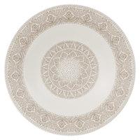 Villeroy & Boch 16-4058-2701 Algo 11 1/2 inch Maroon Premium Porcelain Rim Soup Plate - 6/Case