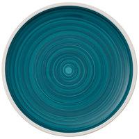 Villeroy & Boch 16-4068-2640 Artesano Ocean 8 3/4 inch Pacific Green Premium Porcelain Flat Coupe Plate - 6/Case