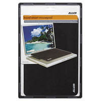Allsop 29592 TravelSmart 11 inch x 7 1/4 inch Black Notebook / Laptop Optical Nonskid Mouse Pad