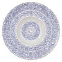 Villeroy & Boch 16-4057-2700 Algo 11 1/2 inch Blue Premium Porcelain Deep Plate - 6/Case