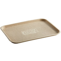 EcoChoice 12 inch x 16 inch Molded Fiber / Pulp Rectangle Tray - 50/Pack