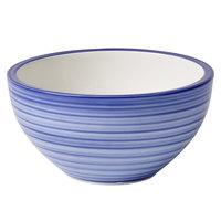 Villeroy & Boch 16-4067-1900 Artesano Ocean 20.25 oz. Atlantic Blue Premium Porcelain Rice Bowl - 4/Case
