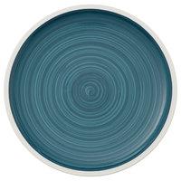 Villeroy & Boch 16-4068-2621 Artesano Ocean 10 3/4 inch Pacific Green Premium Porcelain Flat Coupe Dinner Plate - 6/Case