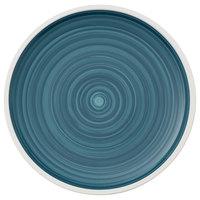 Villeroy & Boch 16-4068-2631 Artesano Ocean 13 1/2 inch Pacific Green Premium Porcelain Flat Coupe Plate - 6/Case