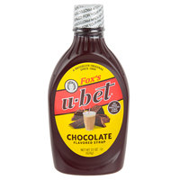 Fox's U-Bet 22 oz. Squeeze Bottle Chocolate Syrup