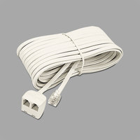 Softalk 04130 Almond 25' Plug / Dual Jack Phone Extension Cord