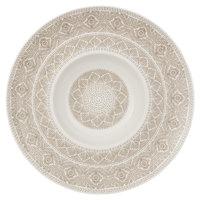 Villeroy & Boch 16-4058-2700 Algo 11 1/2 inch Maroon Premium Porcelain Deep Plate - 6/Case