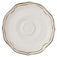 Villeroy & Boch 16-4059-1460 La Scala Patina 4 3/4 inch White Premium Porcelain Saucer - 6/Case