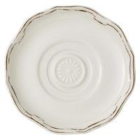 Villeroy & Boch 16-4059-1280 La Scala Patina 6 1/4 inch White Premium Porcelain Saucer - 6/Case