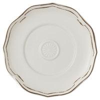 Villeroy & Boch 16-4059-1250 La Scala Patina 7 1/2 inch White Premium Porcelain Saucer - 6/Case