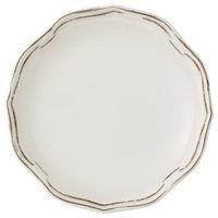 Villeroy & Boch 16-4059-2660 La Scala Patina 6 1/4 inch White Premium Porcelain Flat Coupe Plate - 6/Case
