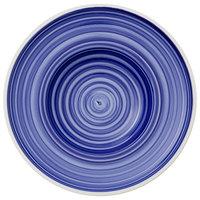 Villeroy & Boch 16-4067-2790 Artesano Ocean 11 3/4 inch Atlantic Blue Premium Porcelain Deep Plate - 4/Case