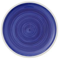 Villeroy & Boch 16-4067-2601 Artesano Ocean 11 1/2 inch Atlantic Blue Premium Porcelain Flat Coupe Plate - 6/Case